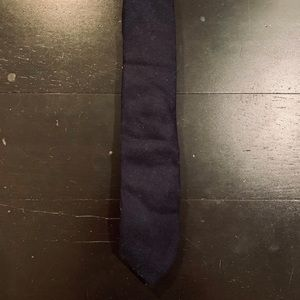 Bonobos Wool Herringbone Twill Neck Tie Navy